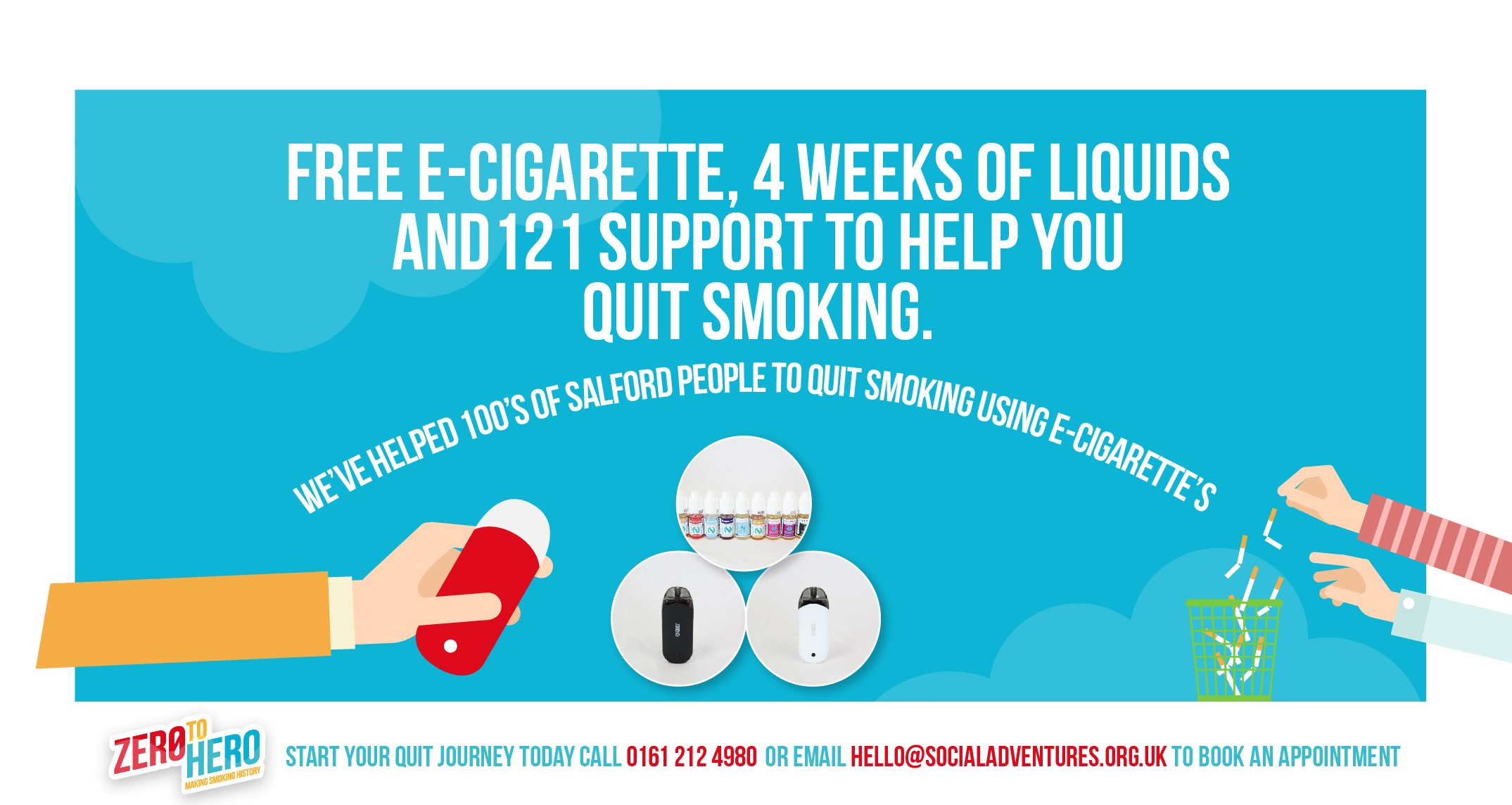 Free ecig and quit smooking support in salford